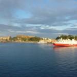 cesta trajektom, pristav Korfu